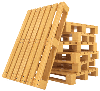 Stacked custom wood pallets for shipping